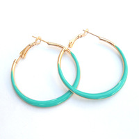 6pairs/lot Gold Colorful 2014 New Hoop Earrings Dancer DME045 Magi Jewelry free shipping