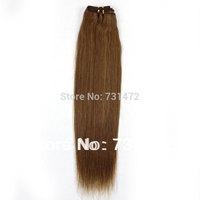 "12""-26""#12 100g 100% Unprocessed Virgin Brazilian Human Hair Weft Beauty   Straight Machine Weave Good Ratio Free Shipping"