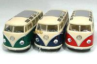 Brand New Set Of 3 Pcs KINGSMART 1:32 Scale Volkswagen Classic Hippy Bus (1962) Diecast Metal Car Model In Stock