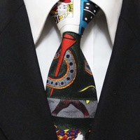 Mens Business Neckties Discount Cartoon High Quality Ties For Men Seda Gravatas Wide 10CM F10-D-2