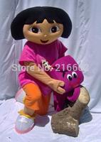 DORA  explorer adult costume  DORA mascot costume plush cartoon role playing clothing polyfoam head free shipping