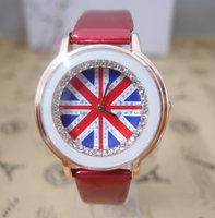 New arrival Sale Gogoey Brand Women UK Flag style Crystal Watch Ladies women dress watches Wrist Quatz Watch Top Quality go047