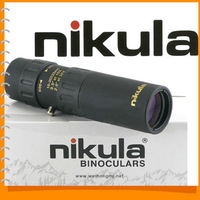 Nikula 10 - 30 x 25 High Power High Quality Mini Pocket Monocular Telescope Eyepiece - Small Bugler