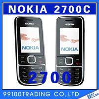 Original unlocked Nokia 2700 Symbian OS Classic mobile phone Super-long standby multilingual Free Shipping Refurbished