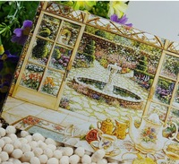 Free shipping / Wholesale and Retail(10 pieces/set)(3 sets/lot)Hand-painted Cartoon Postcard series