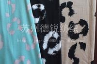 Custom Rayon Printting Knitting Fabric/Beautiful Rayon Hoof prints Spandex Jersey L100CM*W140CM For Polo T-shirt, Home Textile