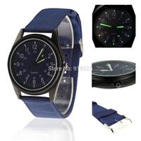 Orkina Black Case Fashion Quartz Navy Blue Nylon Strap Wrist Watch | ORK0076