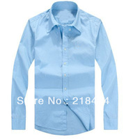 NEW Multi Men's Casual Solid Shirt Brand T Shirt Spring and Autumn Blouses Drop Shipping