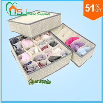 Non-woven underwear bra storage box, finishing box underwear, 3 box piece = 1set flapless + Free Gift of Vest(China (Mainland))