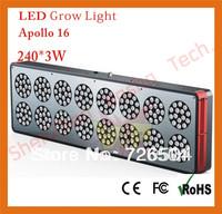 Free shipping  led grow ligh 240*3w Apollo 16 ,Greenhouse led grow light,Dropshipping