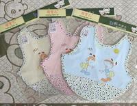 Free Shipping 2pcs/Lot High Quality Fashion Small Ants Greeting Pattern Baby Bib Cotton Baby Bib Burp Cloths 30*30cm, CL0310