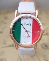 HOT SALE  2013 Fashion Brand Flag Style Crystal Watch High quality wristwatch  men women Quatz watches   go060s