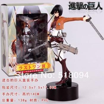"""Free Shipping Attack on Titan Shingeki no Kyojin Mikasa Ackerman PVC Action Figure Model Collection Toy 6"""" 14cm ATFG037"""