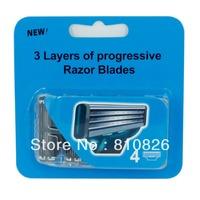 480pcs/lot Factory Neutral Razor Blades 3 blades M3  For man 4 pcs=pack 120pack