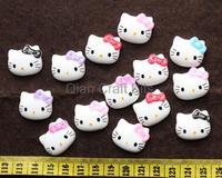 200pcs assorted kitten kitty head kawaii kitsch Cabochon Cabs decoden scrapbooking 22mm flatbacks