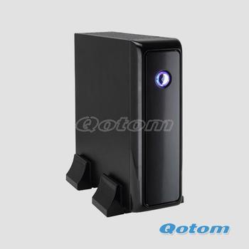 cheapest mini pc case with 12V 5A power supply,QOTOM-C09B mini itx case fit mini itx motherboard