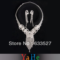 Free Shipping Wholesale High Fashion Brand Jewelry YAHE Women's Jewelry Wedding Jewelry Set Bridal Necklace Women EarringWN10022