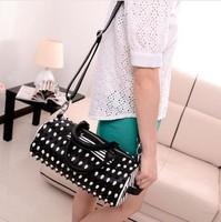 New Britpop Black & White Contrast Color Changeable Bucket Design Trend Girls Handbag Wholesale Free Shipping WB041