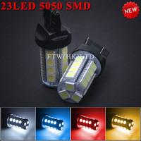 1157 2PCS / LOT  auto hot selling Car LED lights Universal 23 SMD 5050 T20 high brightness Car Brake light  bulbs Free Shipping