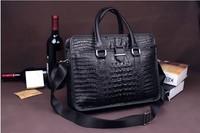 2013 mobile commerce B10483 crocodile grain leather men's bags leather briefcase