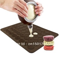 New Large 48 muffin Baking Pastry Sheet Mat Decorative Tool Set Silicon Macaron Mat