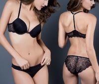 Women Very Sexy VS Push UP Bra and Panty Set  (VSS019) Elegant Bras Girl Quality Underwear lady Lingerie wholesale Brassiere