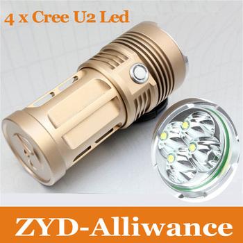 TrustFire Cree XML U2 6000 Lumens Led Flashlight lamp Torch 3-Mode 4x Cree U2 leds
