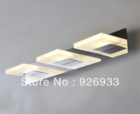 Modern 3 lights fixture minimalist LED waterproof warm white bathroom mirror vanity lights DD555