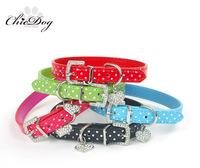 free shipping Rhinestone collar teddy collar dot heart pendant collar