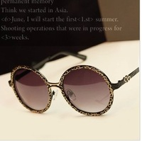 2013 fashion vintage sunglasses metal decorative pattern Retro