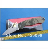 Free Shipping high quality Spyderco Military C81 Camouflage style S30V Folding Knife Tactical knife pocket knife