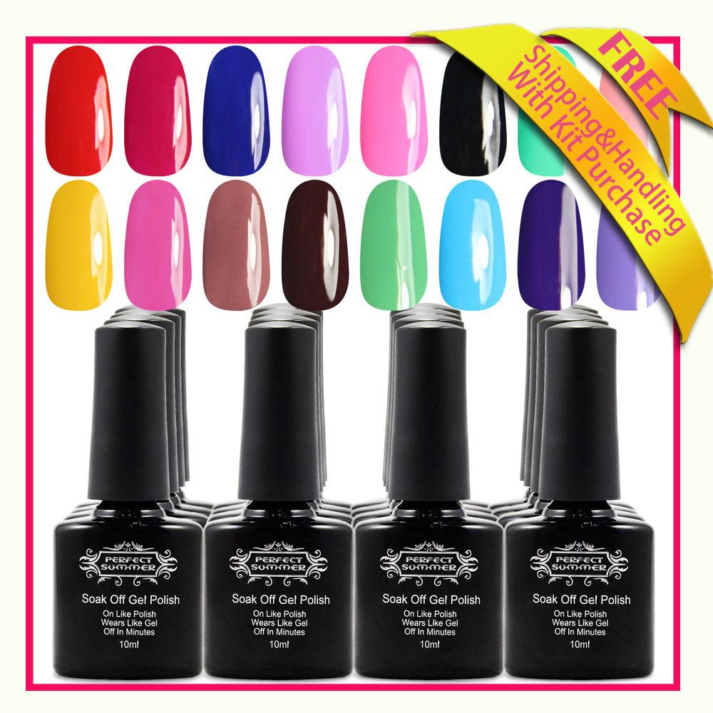 Soak off gel nagellack 132 Farben 18 stück nagel uv gel& basisgel& Spitze mantel versandkostenfrei