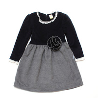 Taurababe 2013 new autumn-winter kids girl fashion dresses good design and top quality warm autumn winther dresses for baby girl