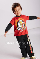 Free shipment Autumn& spring style boy's  suits clothings set t shirt+pants  Retail sales333