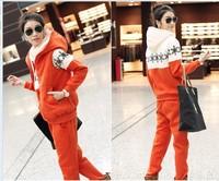 Free shipping!Hot sale women 's jacket coat sports hoodie set,fashion hoodies,letters sweatshirts ,(sweater, pant, vest)!