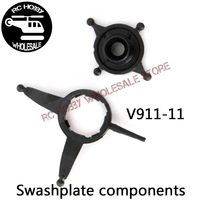 Free shipping+Wholesale WL V911 V911-1 spare parts Swashplate components V911-11 1 lot=5 set for WL V911 2.4G 4CH RC Helicopter