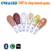 CREATED C200T Free shipping bluetooth car charge speaker wireless with TF card slot