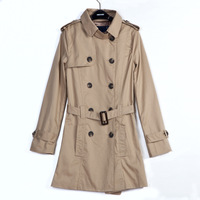 2013 New  fashion women trench coat winter pocket epaulet designer lady's topcoat high quality Y0342