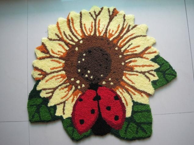 ... bloem borduurwerk kunst/vloermat/kunst tapijt voor slaapkamer 77*65cm