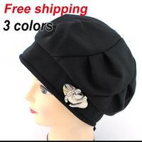 2014 Sale Women Beanies New Fashion Winter Hats for Women Knitted Hat Female Knitting Wool Warm 3 Colours Chapeau free Shipping