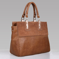 New Elegant women leather handbags women messenger bags Retro Tote Vintage Designer Handbag  Genuine Leather Bags