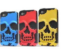 3D PC Silicon Soft Silicone Fashion Skull Bronze Case Cover For Apple iPhone 5 5G 5S 5S  1pcs/lot