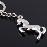 New metal Horse Keychain/Keyring bag handbag charm for Keychain with silver palted Wholesale/Retail