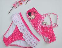 girls baby kids bikini swimsuit two pieces tankinis set minnie princess swim suit children swimwear bathing 12 cheap new