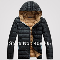 2013 New Desigan Jackets men winter super thin warm white duck down coats 5 Colors M L XL XXL Drop shipping