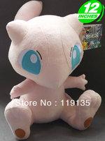 "Free shipping Anime Pokemon Character 12"" Mew Plush Toy Stuffed Animal Doll Mewtwo"