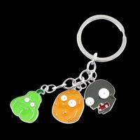 Metal Enamel Plants Vs Zombies Keychain/Keyring bag handbag charm for Key wholesale/retail Gifts