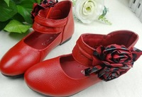 Free Shipping Child single shoes female leather girls female child leather cowhide girls shoes 26 36  camel boots