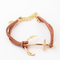 C030 Korean style fashion personality anchor bracelet free shippping!
