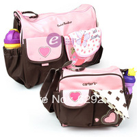 Mother infanticipate mummy Babies bags fashion nappy bag multifunctional heart nappy bag 3pieces set 2 colors Free shipping
